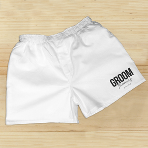 Personalized Groom Boxers | Personalized Boxers