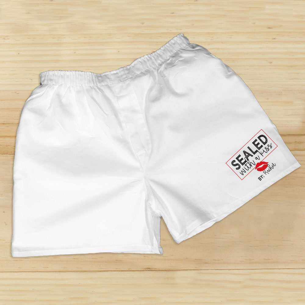 Personalized Sealed with a Kiss Boxers | Personalized Boxers