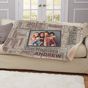 Personalized Memories Word-Art Sherpa | Photo Sherpa Blankets