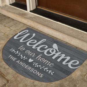 Personalized Welcome To Our Home Doormat | Personalized Welcome Mat