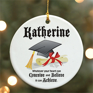 Personalized Ceramic Graduation Ornament U222710