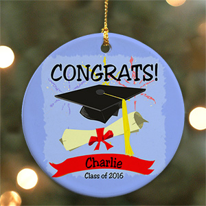 Personalized Ceramic Graduation Christmas Ornament