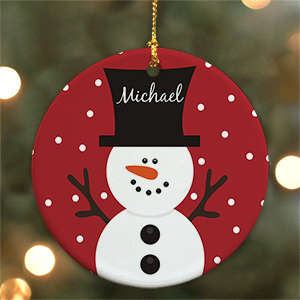 Snowman Personalized Ornament U346510