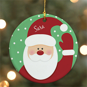 Santa Ceramic Ornament