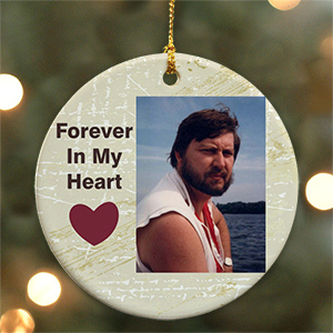 Ceramic Memorial Photo Ornament U349310