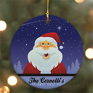 Personalized Ceramic Santa Ornament U369610