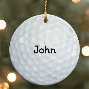 Golf Ball Personalized Ceramic Ornament