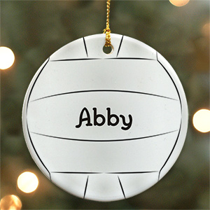 Volleyball Personalized Ceramic Ornament