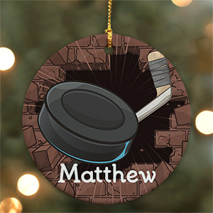 Hockey Personalized Ceramic Ornament U372610