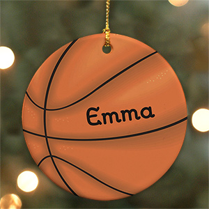 Basketball Personalized Ceramic Ornament U372710