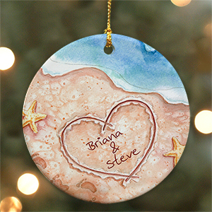 Shores of Love Personalized Ceramic Ornament U374410