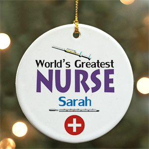 World's Greatest Nurse Personalized Ceramic Ornament U375010