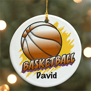 Personalized Ceramic Basketball Ornament U377110