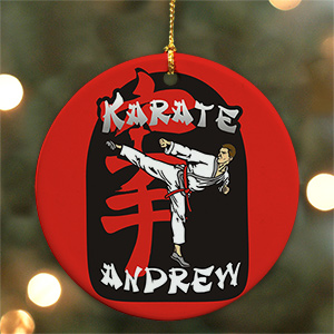 Personalized Ceramic Karate Ornament U380210