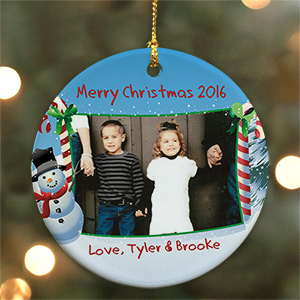 Ceramic Christmas Photo Ornament