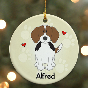 Personalized Ceramic Beagle Ornament U452310