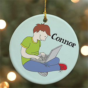Personalized Ceramic Laptop Ornament U489010