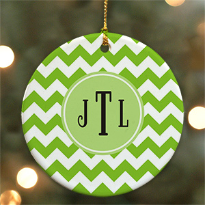 Monogram Madness Ornament | Ceramic | Kids Christmas Ornaments