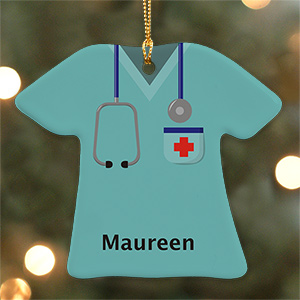 Personalized Ceramic Nurse T-Shirt Ornament U684663