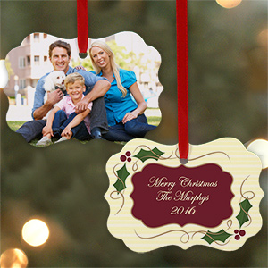 Personalized Family Photo Ornament U690230