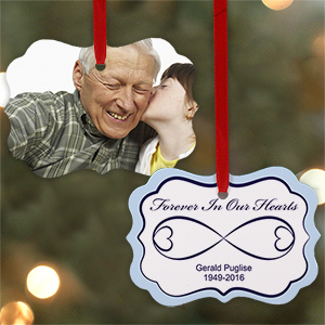 Sympathy Gift Photo Ornament | Memorial Christmas Ornaments