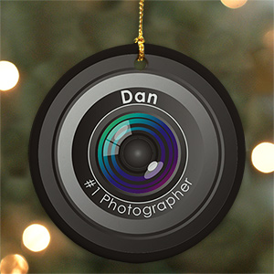 Personalized Ceramic Number One Photographer Ornament U718010
