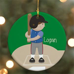Personalized Ceramic Baseball Ornament U721910