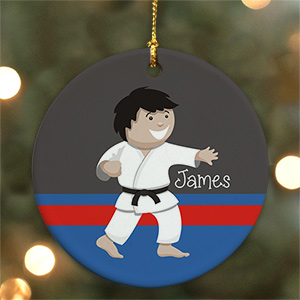 Personalized Boy Karate Boy Ornament U722310