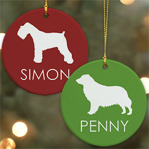 Dog Breed Personalized Ceramic Ornament U730410