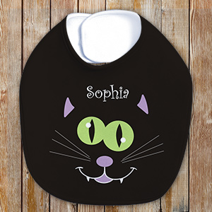 Personalized Halloween Baby Bib U781735CAT