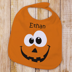 Personalized Pumpkin Baby Bib