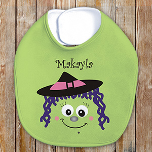Personalized halloween Witch Baby Bib U781735WITC