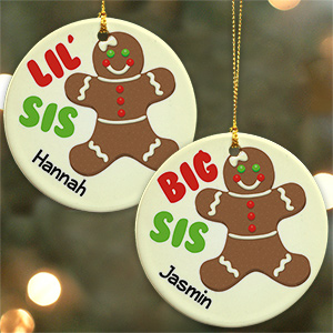 Sister Gingerbread Personalized Ornament U799210