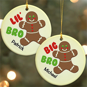 Big Brother - Lil Brother Gingerbread Ornament