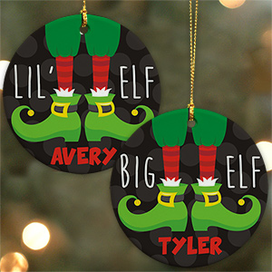 Personalized Elf Ceramic Ornament U799510