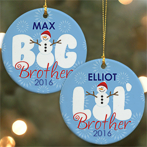 Brother Ceramic Christmas Ornament | Personalized Christmas Ornaments
