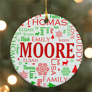 Word-Art Ornament