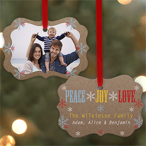 Peace Love Joy Ornament | Picture Ornaments