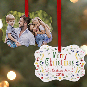 Festive Christmas Photo Ornament U974230