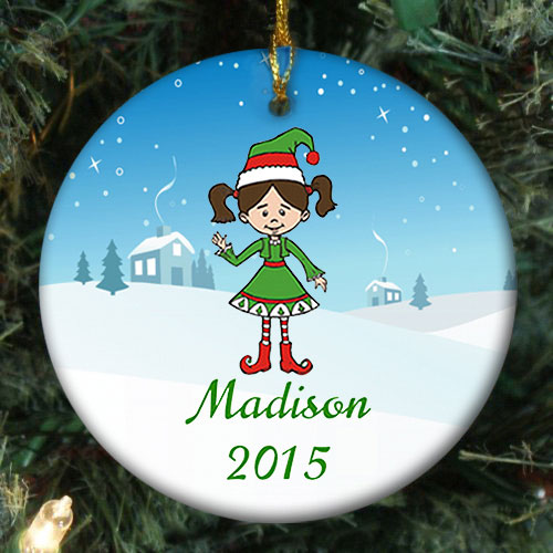 Personalized Holiday Character Ornament
