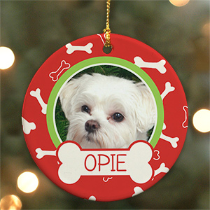 Personalized Dog Bone Photo Ornament U979910