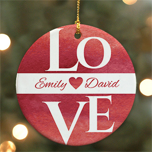 Personalized Love Ornament U981910