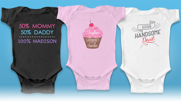Personalized Baby Shirts & Bodysuits