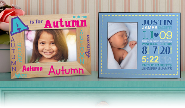 Personalized Baby Picture Frames & Canvas Prints