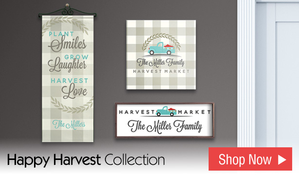 Happy Harvest | Personalized Gifts and Home Decor
