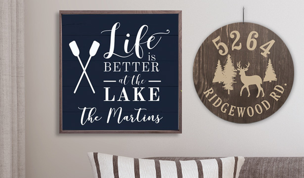 Personalized RV and Camping Signs