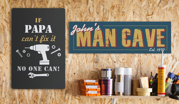 Personalized Mancave Signs