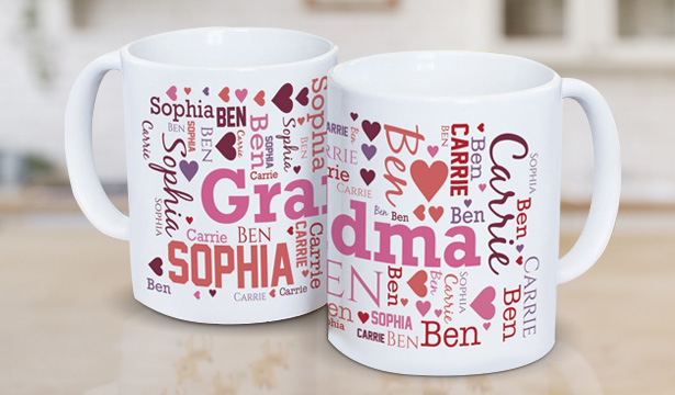 Personalized Mugs for Mom & Grandma