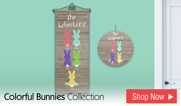 Colorful Bunny Family Collection