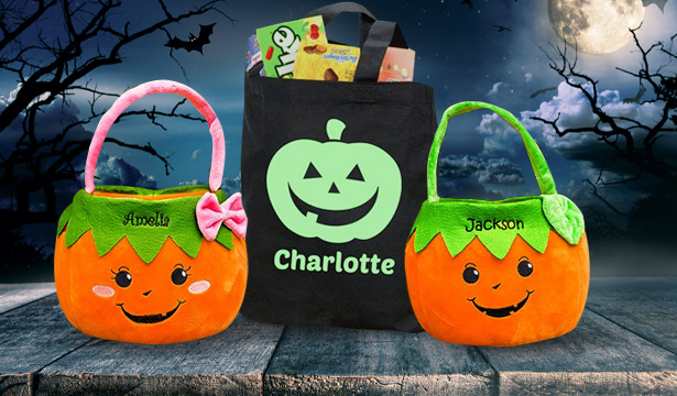 Personalized Trick or Treat Bags for Halloween